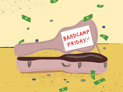 Bandcamp.com Promo promotion songwriters musicians music bands texture grit busker busking guitar support donations cash money guitar case friday bandcamp