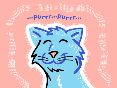Cat Purr Vibrations sleepy lazy happy furry hum smile voice sound noise vibrations kitten kitty feline pets cats purring