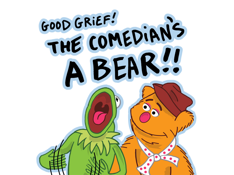 The Muppets cute muppet show muppets the muppets fozzie bear kermit the frog kermit illustrator illustration