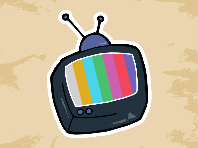 Retro Netflix Machine! old digital color bars vintage retro tv television vector illustrator illustration