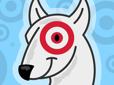 Bullseye, the Target Dog pets graphic design design branding brand illustrator illustration vector cute dogs dog bullseye target store target