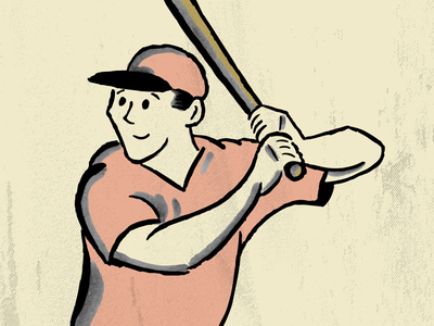 Retro Baseball Player