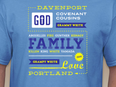 White Family Reunion T-Shirt Design