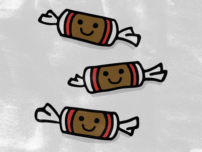 Tootsie Rolls tootsie roll tootsie smile chicago hungry food fun illustration for kids cute chocolate taffy candy