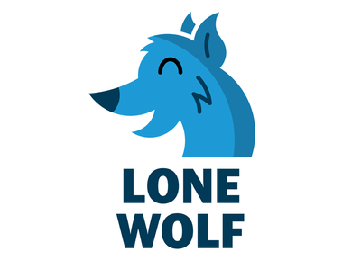 Animal Misfits 3 of 3: Lone Wolf introversion introvert for kids pins buttons button cute blue misfit misfits animal wildlife animals lone wolf lone loner wolves wolf