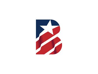 B flag usa vector brand design branding b logo
