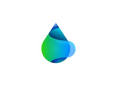 waterdrop logo waterdrop vector icon design