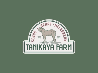 goat farm badge logo design ranch goat milk farm goat milk