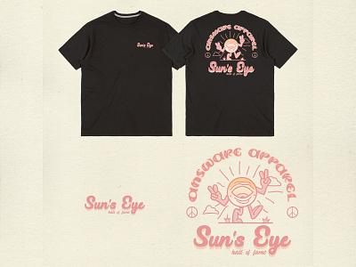 Answare sun eye design branding vintage badge vintage font vintage apparel logo vintage logo vintage design clothing apparel