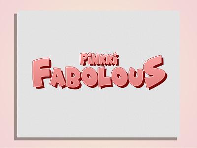 Pinkki Fabo logo typography comic design branding vintage logo vintage clothing apparel logo apparel