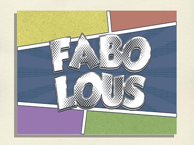 Fabo Comic comic art comic logo typography illustration design branding clothing apparel logo apparel