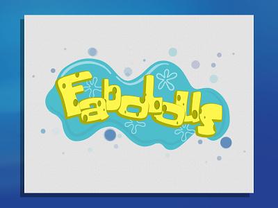 Spons fabo comic logo typography illustration vintage design branding clothing apparel logo apparel