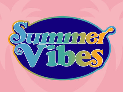 Summer Vibes design vector typography graphic design