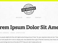 Ad Spandex Website