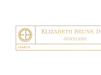 Elizabeth Bruns gold monochrome icon logo gold foil boxes