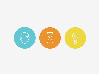More Icons for Infomedia Site line hourglass lightbulb person face circle