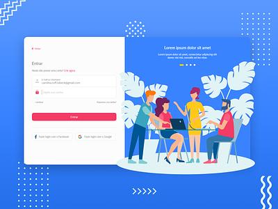 #001 Daily UI Entrar flat web design ui