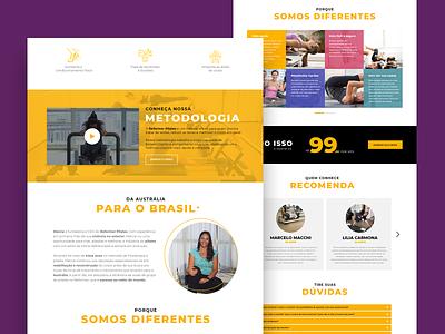 One Page - Reformer Class web ui design