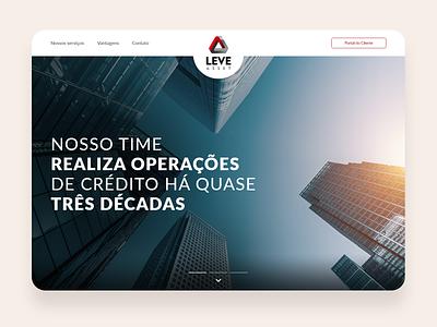 One Page - Leve Asset web ui design