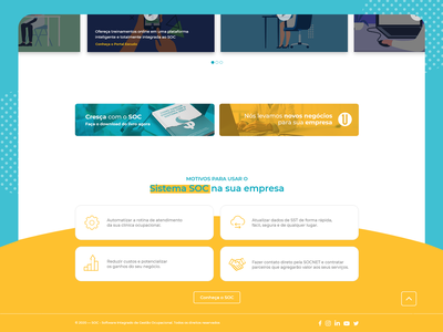 One Page - SOC Business web ui design