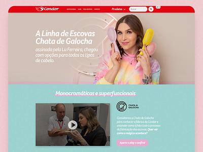 Landing Page - Condor & Chata de Galocha web ui design