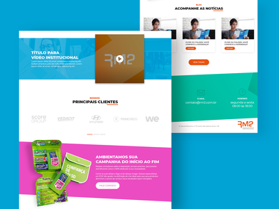Site - RM2 Gráfica web ui design