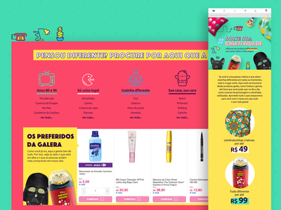 Landing Page - Carrefour Cool Stuff web ui design