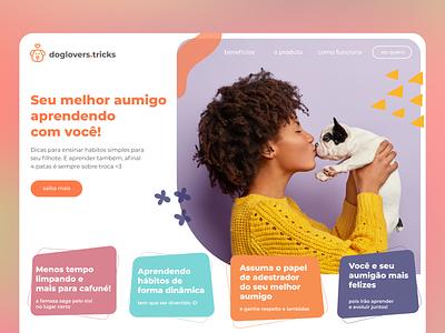 doglovers.tricks web ui design