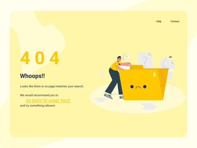 404 error page web ui design