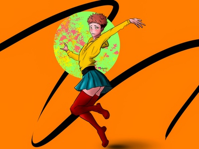 crossdress jujutsu fanart illustration mangaart artwork