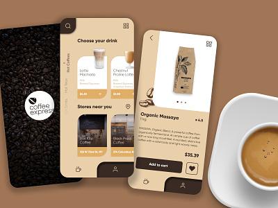 Coffee Shopping App uidesigner uiuxdesigner userinterfacedesign coffee coffee shopping ui inspiration uiux supply ui trends app design app design uidesign userinterface uiux design uiuxdesign uiux