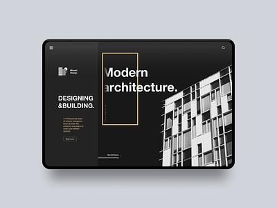 Architecture Landing Page architecture web design website web landing page uiuxdesigner uidesigner uiux supply uidesign ui inspiration ui trends userinterface uiux design uiuxdesign design uiux