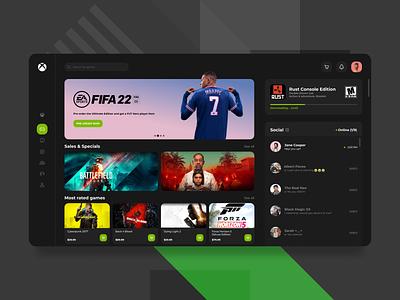 Xbox Dashboard dashboard xbox microsoft interface design ui design ui designer userinterfacedesign ui app uiux design ui trends design userinterface uiuxdesign uiux