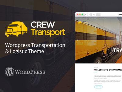 Crewtransport - WordPress Transportation & Logistic Theme woocommerce warehousing trucking transportation transport themelexus delivery