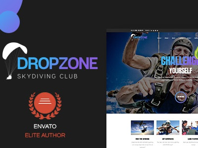Dropzone - Skydiving Club Responsive WordPress Theme by Cong
