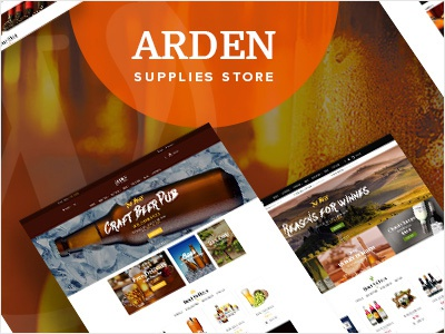 Arden - Brewery Supplies Store WordPress Theme winery whisky homebrewers drink breweries beer clubs beer aficionados beer