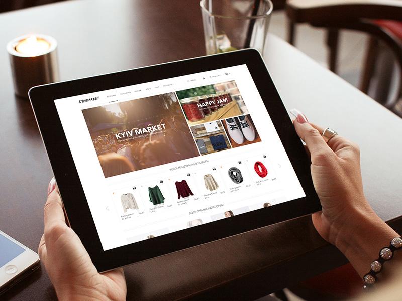 E-commerce Ukrainian store  e-commerce web design ux ui