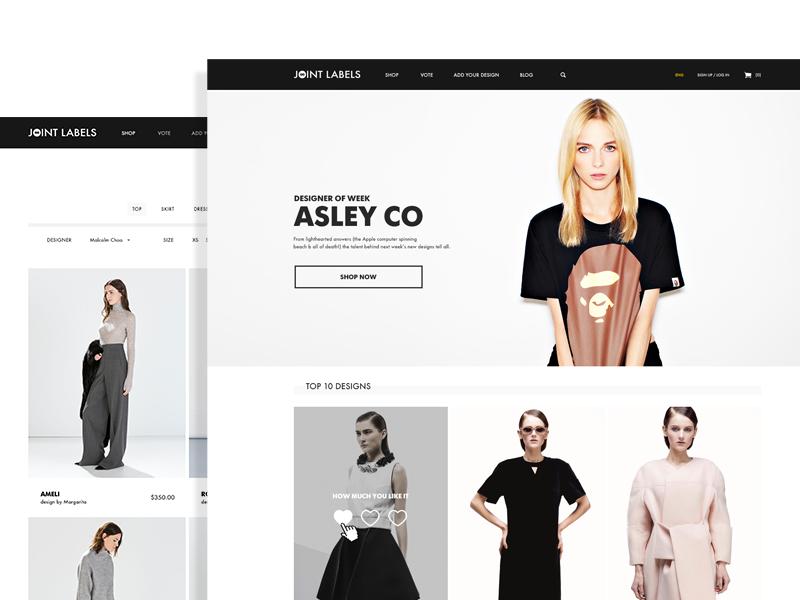 Joint Label e-commerce fashion store ui ux design web e-commerce