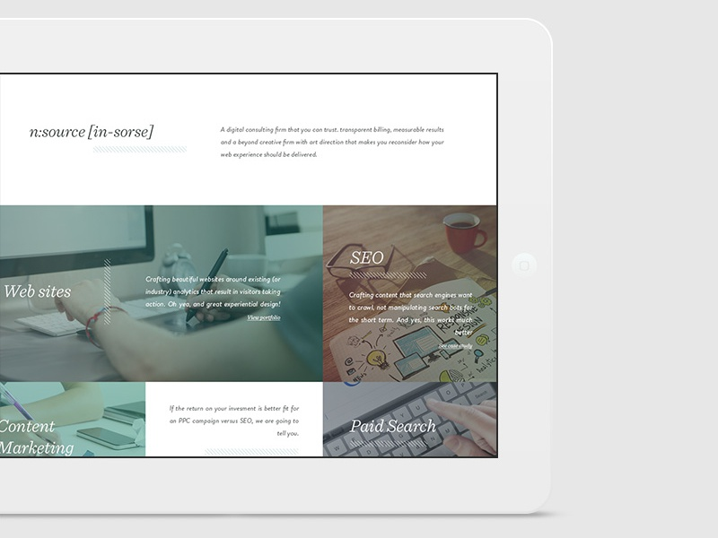 One page website for web-studio ux ui web
