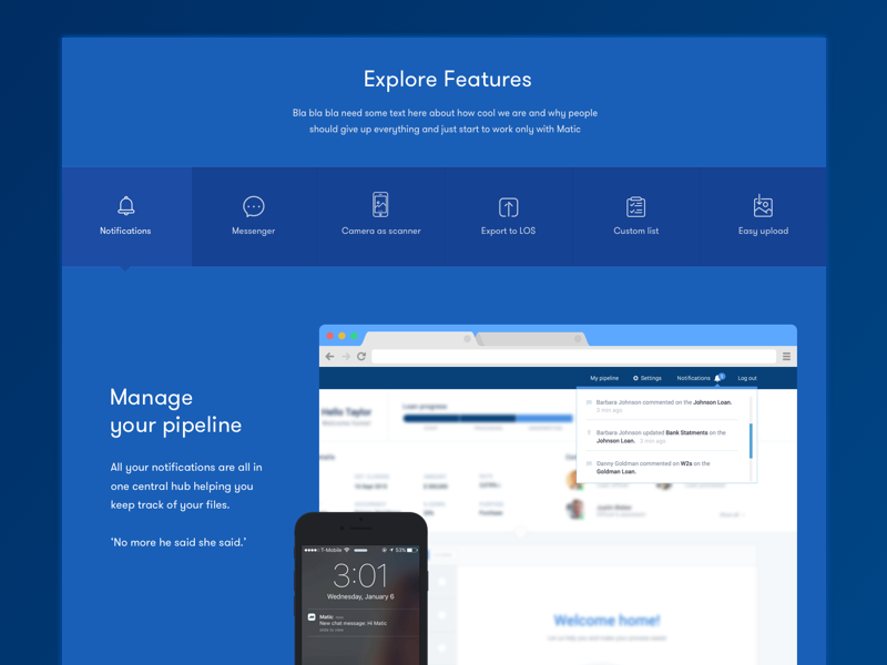 Landing product page dailyui features ui design product ui