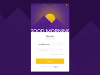 Daily UI #001 Log in page