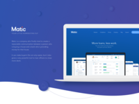 Matic Landing Page