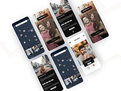 Dating App mobile app design mobile app mobile dating app datingapp dating application app design app ui  ux uiux uidesign ui design app design