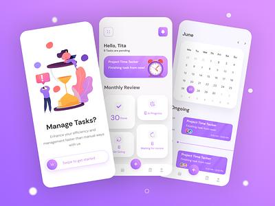 Task Management App mobileapp branding appbrain taskmanagement ui illustration app design design app uidesign design ui  ux uiux
