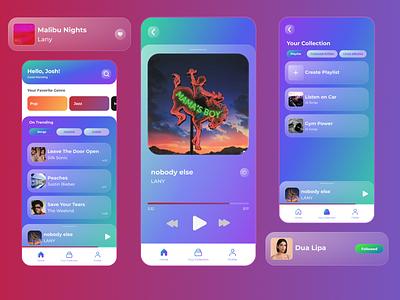 Music Player UI Design design app ui music app
