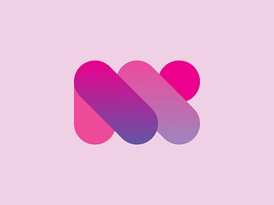 M logo like a rope