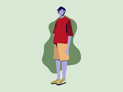 Flat Character Illustration graphic design vector design illustration