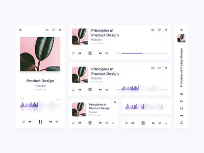 Day 9 - Music player ux ui responsive design widgets widget web design webdesign uiux uidesign 100 day challenge 100daychallenge daily ui dailyui