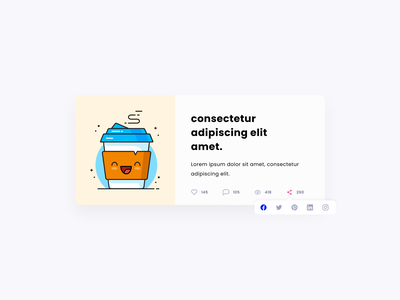 Day 10 - Social Share website web design dailyui 010 challenge10 uiux ui share shares social social media post daily100challenge daily 100 challenge daily ui dailyui
