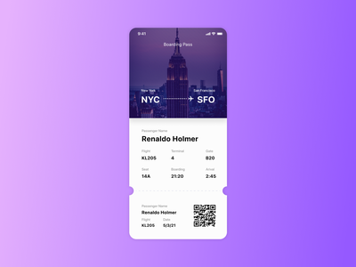 Day 24 - Boarding Pass user experience user interface design user interface ux design ui design ui  ux ux ui boarding pass 100dayproject 100daychallenge 100 day challenge daily 100 challenge dailyui daily ui